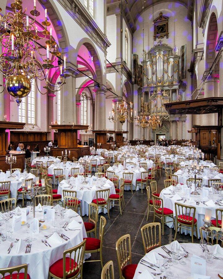 Westerkerk diner ronde tafels 160415 4334